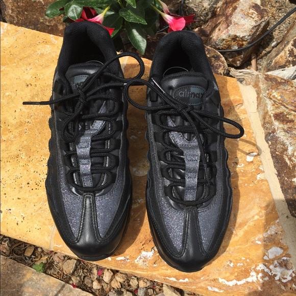 Nike Air Max 95 Black with Blue grey glitter
